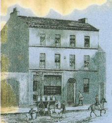 Llun 9 Stryd y Plas fel oedd yn 1846